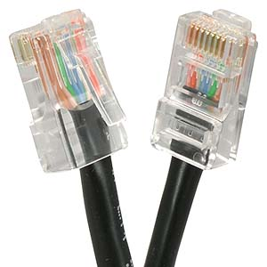 25Ft Cat5E UTP Ethernet Network Non Booted Cable Black