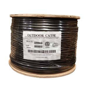 1000Ft Cat.5E UTP Direct Burial Outdoor Cable Black