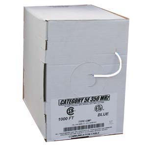 1000Ft Cat.5E Solid Shielded Plenum White, ETL/CSA