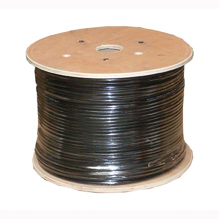 1000Ft Cat.6 Stranded Wire Bulk Cable Shielded Black