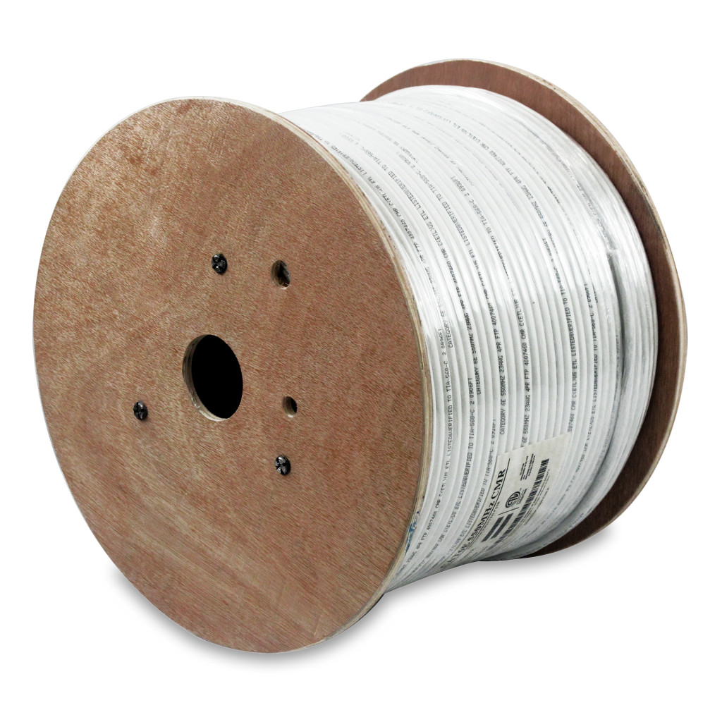 1000Ft Cat.6 Stranded Wire Bulk Cable Shielded White, 26AWG CMH
