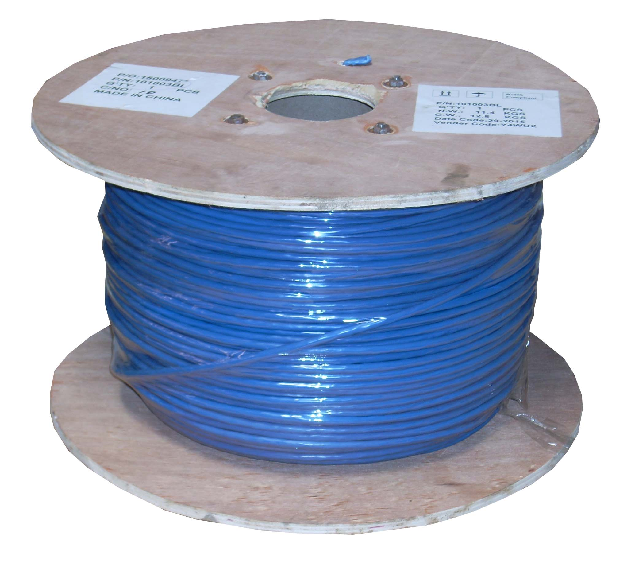 1000Ft Cat.6 Stranded Wire Bulk Cable Shielded Blue