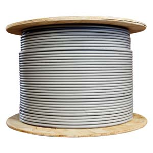 1000Ft Cat.6A 10G Solid Wire Bulk Cable Gray