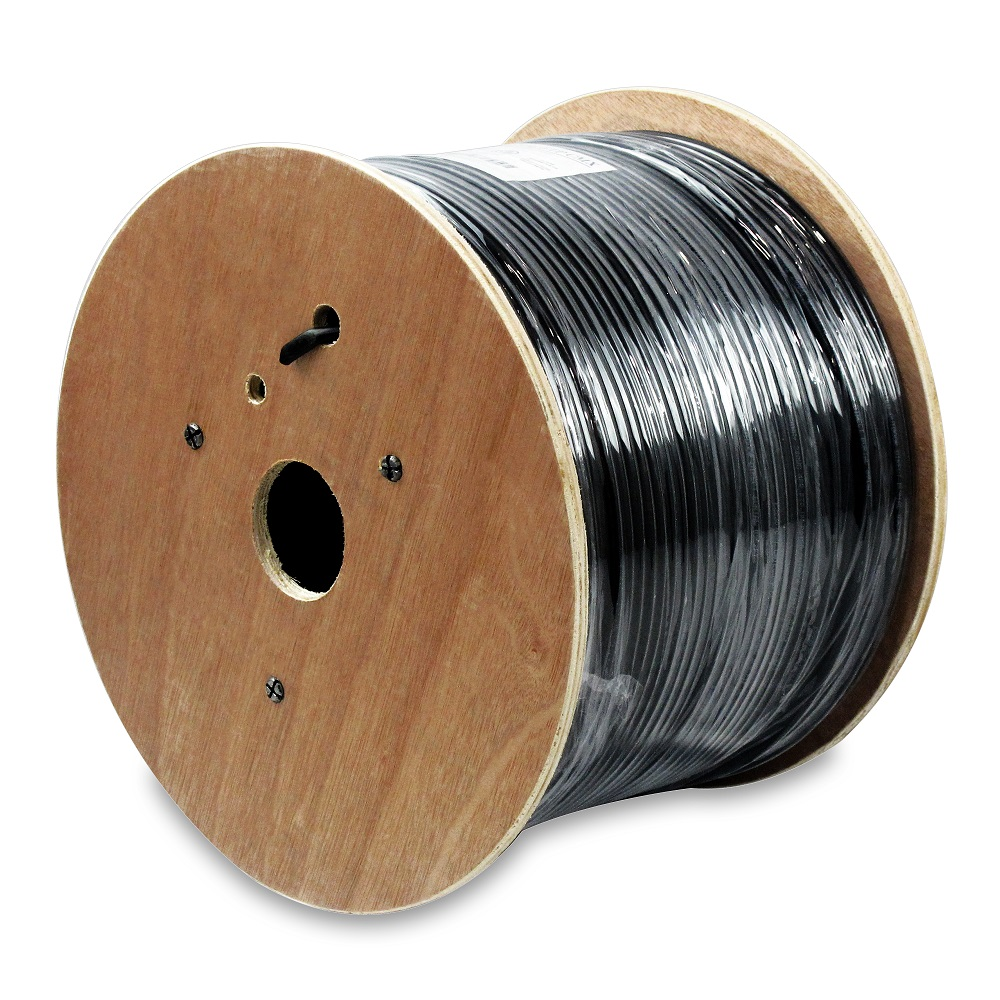 1000Ft Cat.6 UTP Direct Burial Outdoor Cable Gel Type Black
