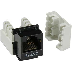 Cat.5E RJ45 110 Type Keystone Jack Black