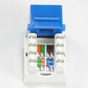101603BLa cat 5e rj45 110 type keystone jack blue bestlink netware rj45 keystone jack wiring diagram at crackthecode.co