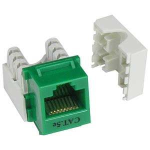 Cat.5E RJ45 110 Type Keystone Jack Green