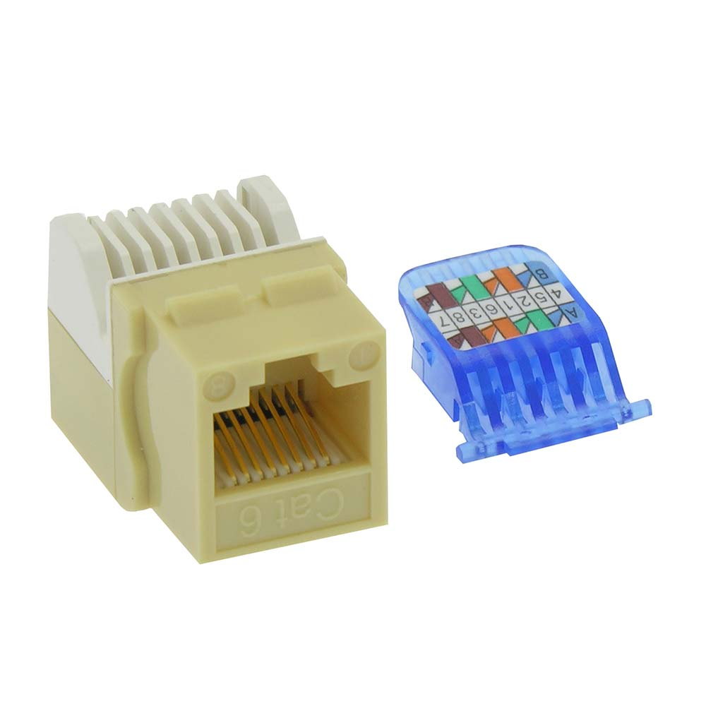 Cat.6 Tool Less Keystone Jack Ivory