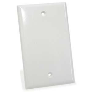 Blank Wall Plate White Smooth Face
