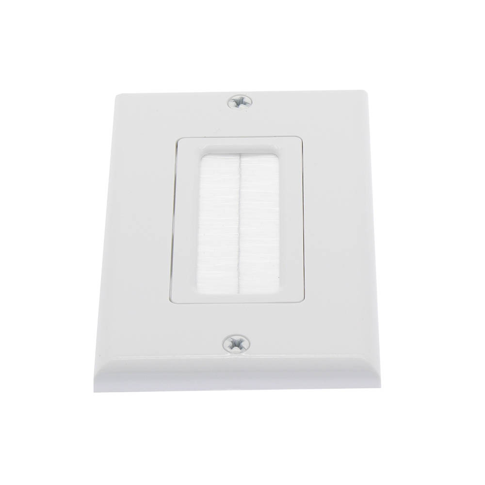 1-Gang Brush Wall Plate Withe