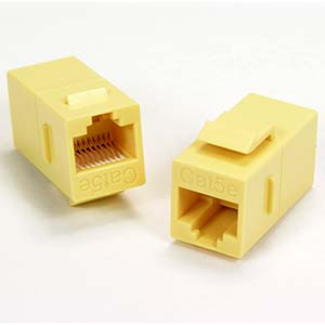 Cat.5E Inline Coupler w/Keystone Latch Yellow