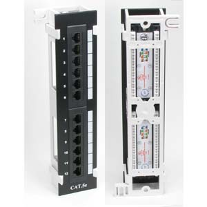 Cat.5E 110 Type Patch Panel 12Port Vertical w/Bracket