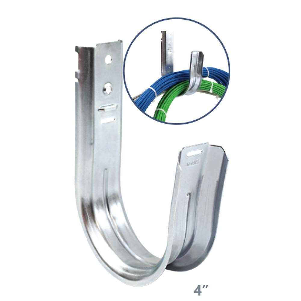 Universal 4 quot Wall Mount J Hook Cable Support Wire