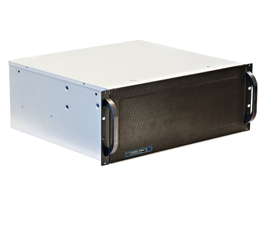 "4U Short Depth Rackmount Case with Rotating 9 x 3.5"" Drive Cage RPC-431"