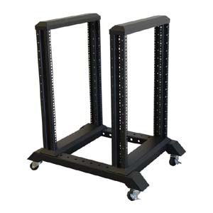 15U 4 Post Open Frame Steel Rack, R4-15U