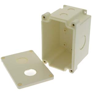 2-Port Industrial Watertight Surfacemount Box for Bulkhead RJ45 Jacks