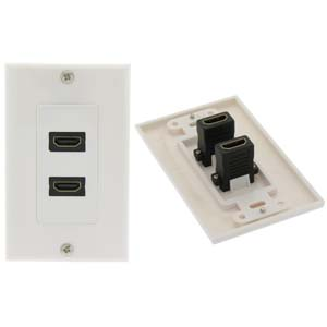 HDMI 2 Port Wall Plate
