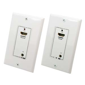 HDMI/Remote Control IR Extender Wall Plate 1080p, 100Ft (30m)