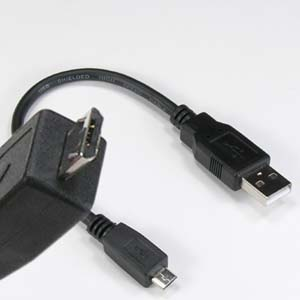 8 inch USB2.0 A-Male/Micro B USB-Male Cable