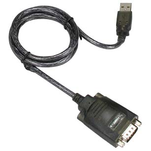 USB to RS232 Serial Adapter DB9-Male/Hex Nut, PROLIFIC Chipset