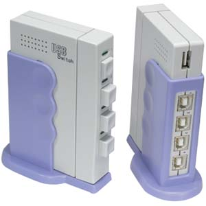 4Way USB Switch USB Button Vertical