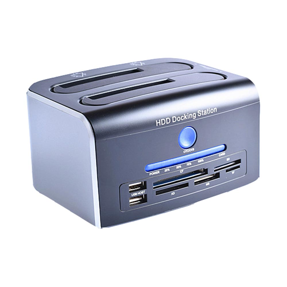 "USB3.0 to SATA Dual Bay Docking Station for 2.5/3.5"" HDD, SSD Duplicator Cloner Function"