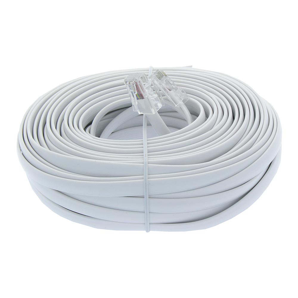 50Ft RJ45 Modular Cord Straight White
