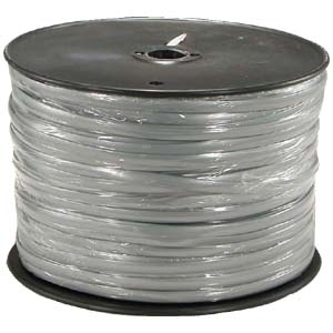 1000Ft 8 Conductor Silver Satin Modular Cable Reel 28AWG