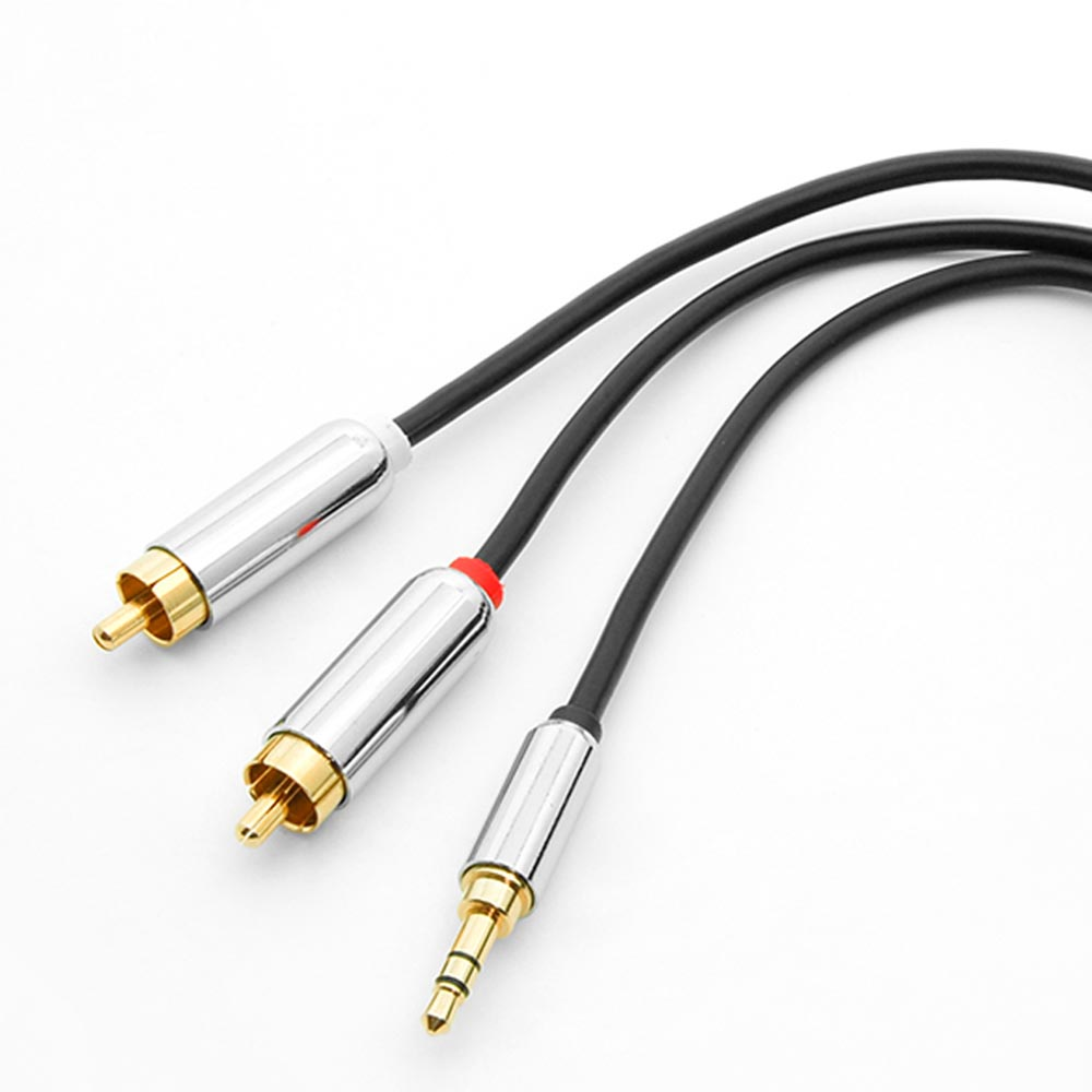 Rca 35mm premium cables bestlink netware 1ft 35mm stereo plug to 2xrca male premium audio cable greentooth Images