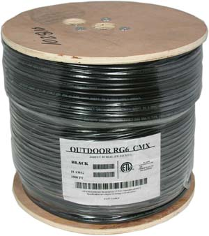 1000Ft RG6 CCS Dual Shield Direct Burrial Outdoor Cable