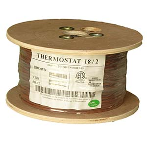 500Ft 18/2 Unshielded CMR Thermostat Cable Solid Copper PVC