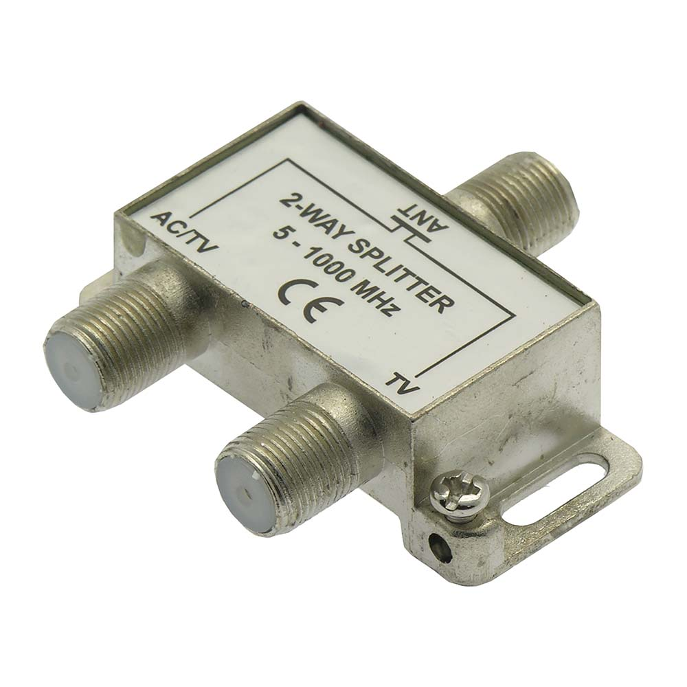 2Way WA2608 TV Signal Splitter AC Power Pass