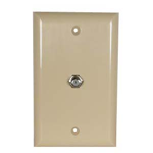 F Coupler Wall Plate Ivory