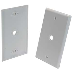 Blank Wall Plate for F Coupler White