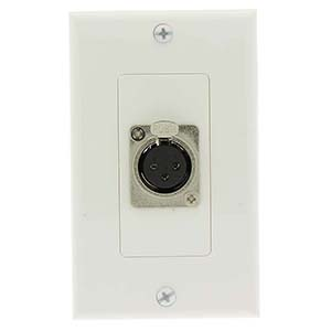 XLR Female Decora Wall Plate White