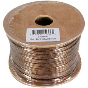 250Ft 16/2 Clear Speaker Wire CL2 In-Wall Rated