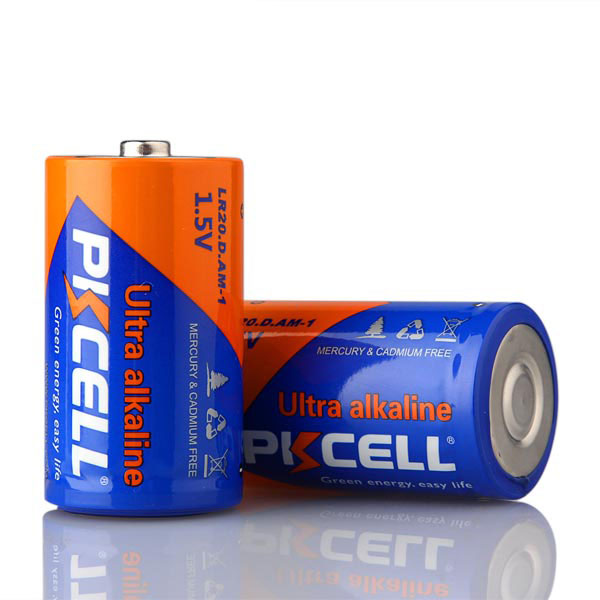 2-Pack 1.5V D/LR20 Alkaline Battery PKCELL