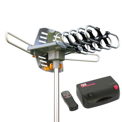 Outdoor HDTV Antenna with Motor Rotor, WA2608