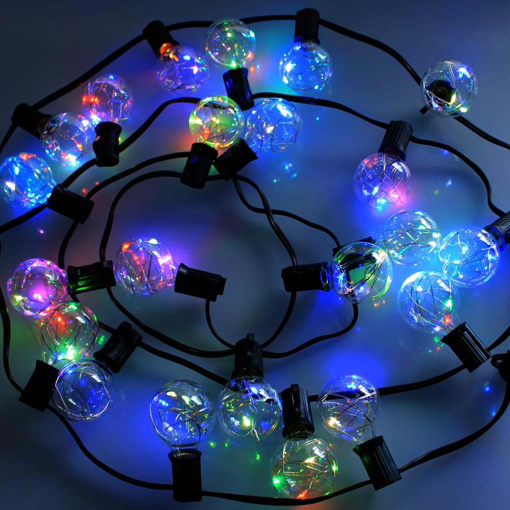 13Ft (4-Meter) 25 LED Bulb String Light Rainbow Color E12 Socket