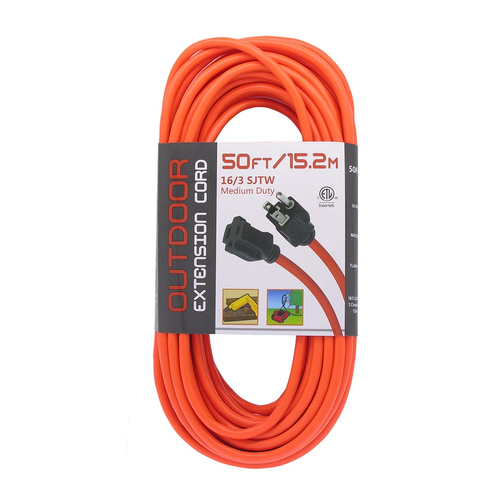 Ft sjtw orange extension cord black plug bestlink