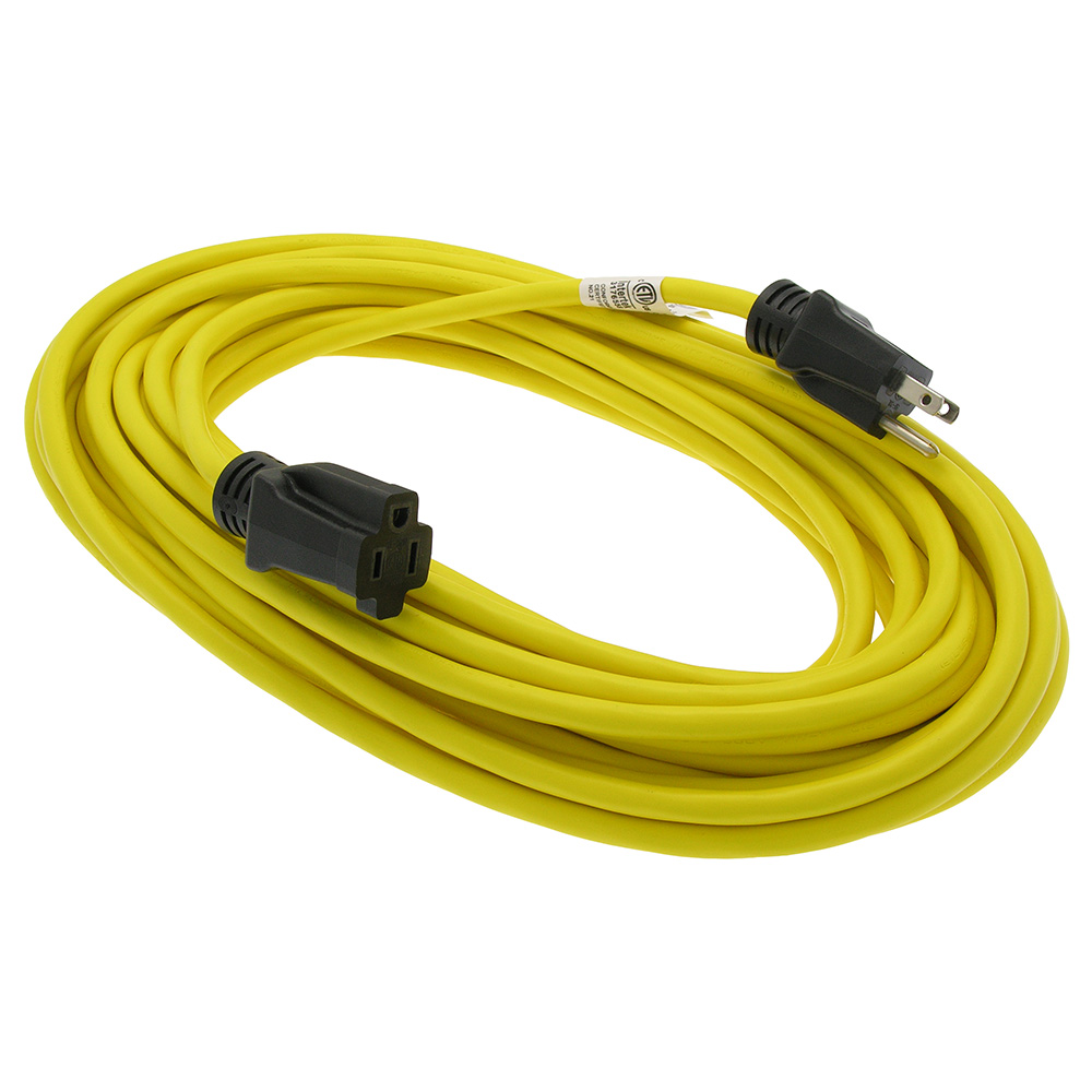 No Extension Cords : Ft sjtw yellow extension cord black plug bestlink