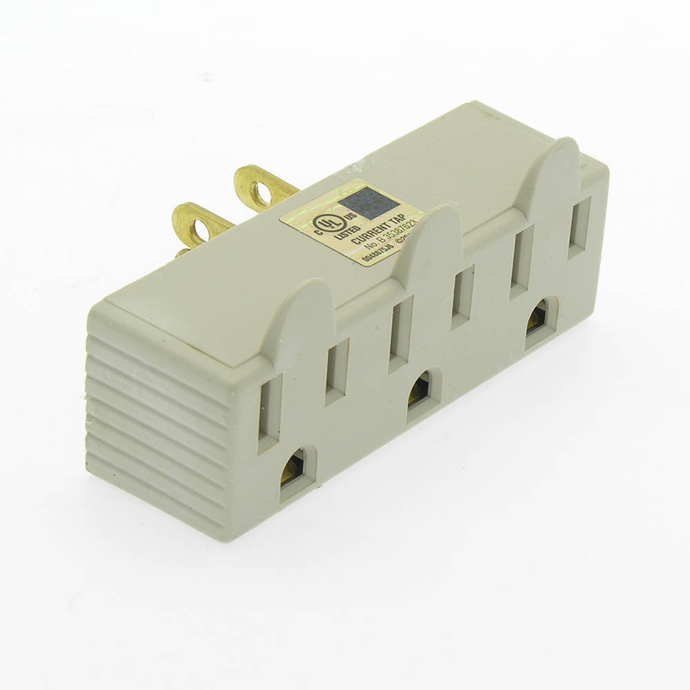 3 Outlet Grounding Tap AC125V 15A