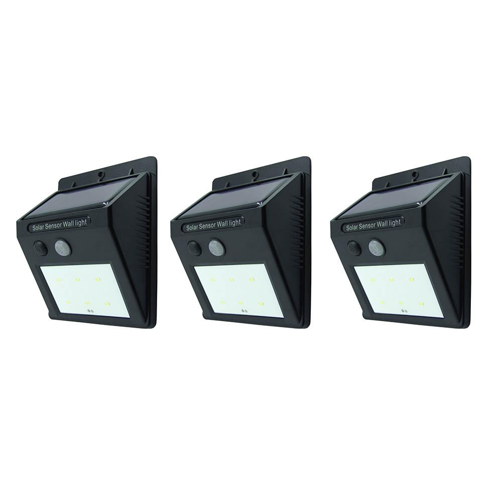 Outdoor solar led lights bestlink netware 6led wallmount solar sensor led light 1w 120lm 3pc set workwithnaturefo