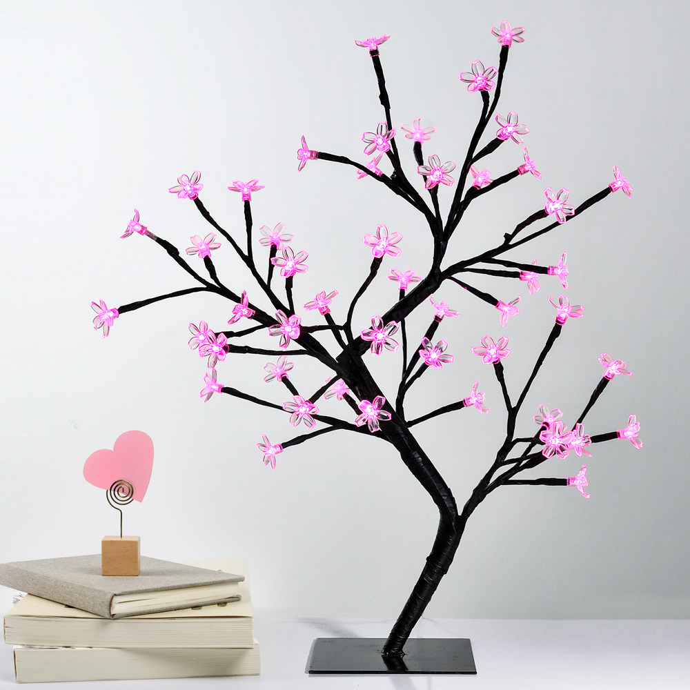 32L 5mm LED Tree Light with Pink Flower IP44 Weather Proof AC Powered