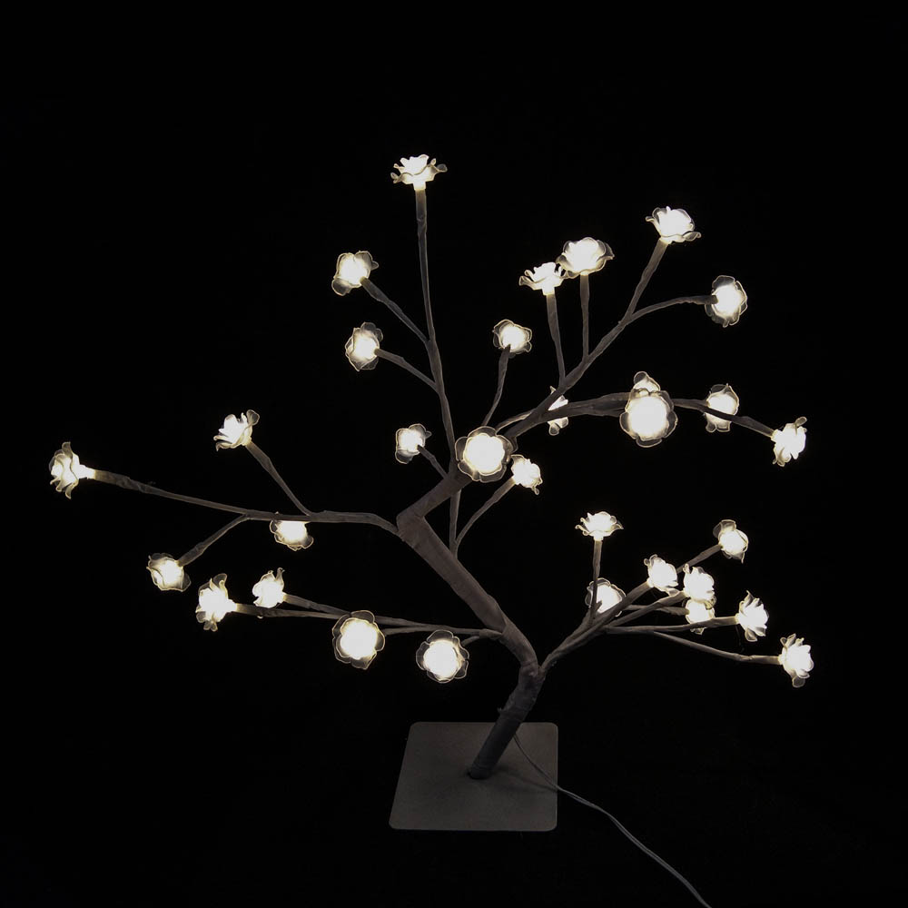 32L 5mm LED Tree Light with Warm White Rose IP44 Weather Proof AC Powered