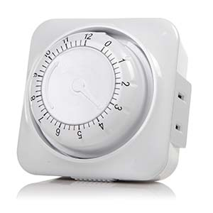 Mechanical Coundown Timer 12 Hour 2-Prong Outlet