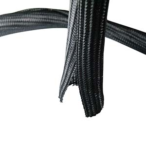 "Self Closing Cable Sock Black 1/2""(12.7mm) x 50Ft(15.24m )"