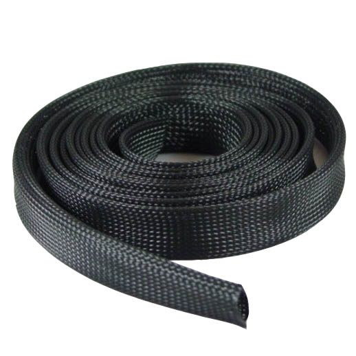 "Expandable Braided Cable Sock Black 1/2""(12.7mm) x 50Ft(15.24m )"