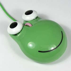 Frog Mouse USB Plug 2-Button + Scroll