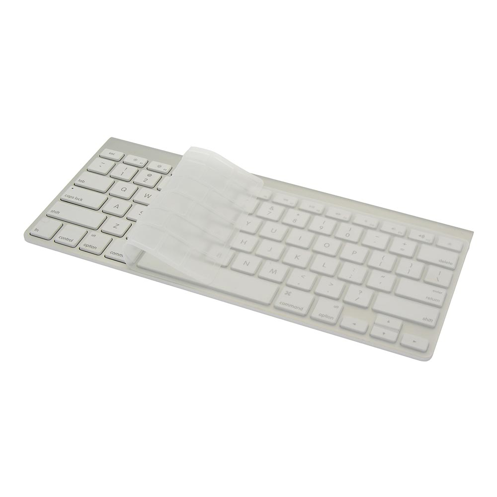 "Keyboard Cover Clear Silicone Skin for MacBook Pro 13"" 15"" (2015 or Older Version), iMac"